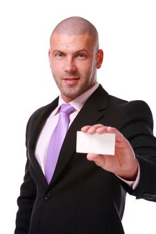 Free Business Man Isolated On The White Royalty Free Stock Photography - 14377847