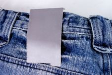 Free Jeans With Tag Royalty Free Stock Photos - 14378308