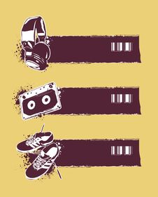 Free Set Of Grunge Banners Royalty Free Stock Photography - 14378517