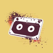 Free Grunge Audio Tape Stock Photography - 14378552