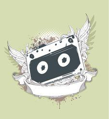 Free Grunge Audio Tape Royalty Free Stock Photo - 14378565