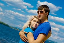 Free Young Beautiful Couple Royalty Free Stock Photo - 14379185