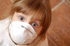Free Child With Medical Mask Royalty Free Stock Photos - 14379298