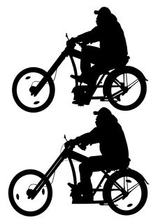 Free Big Cyclist In Motion Royalty Free Stock Photos - 14379438