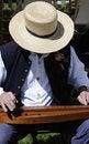 Free Civil War Actor Playing Dulcimer Stock Image - 14389931