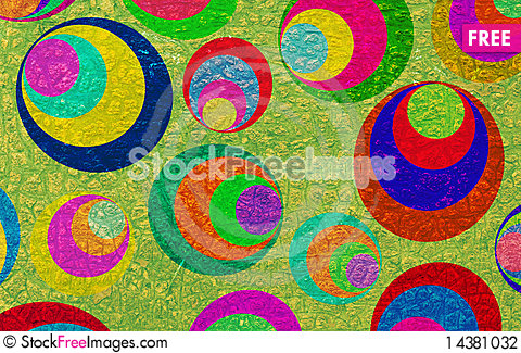 Free Grunge Circles On The Wall Stock Photography - 14381032