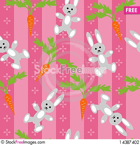 Background with hares and carrots Stock Photo
