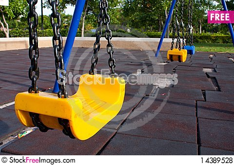 Swing in the park Stock Photo