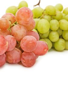 Red And Green Fresh Grapes Isolated Royalty Free Stock Image