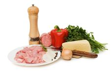 Free Fresh Meat And Different Components Stock Photography - 14380232