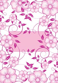 Free Abstract  Floral Background Royalty Free Stock Photos - 14380338