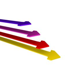 Free Temperature Colored Arrows 3d Stock Image - 14380751
