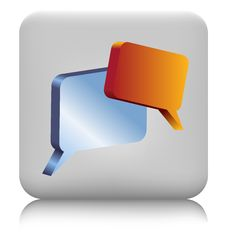 Free Chat Icon Royalty Free Stock Photos - 14381138