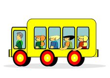 Free School Bus Royalty Free Stock Photography - 14381237