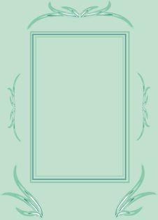 Free Light Blue Ornament Frame Stock Image - 14381491