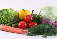 Free Assortment Of Fresh Vegetables Royalty Free Stock Image - 14381736