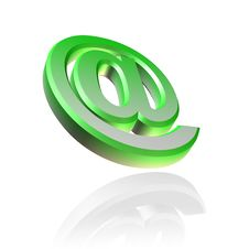 Free 3D Email Symbol Royalty Free Stock Photography - 14382467