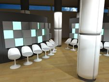 Free Hospital Waiting Room, White Chairs Royalty Free Stock Photography - 14382967
