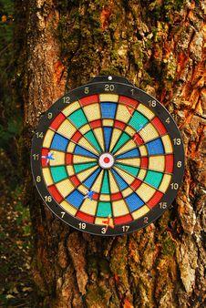 Free Dart Board Royalty Free Stock Photo - 14383635
