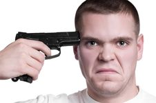 Man Trying To Make Suicide Stock Photos