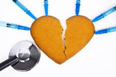 Free Broken Heart Royalty Free Stock Image - 14384076