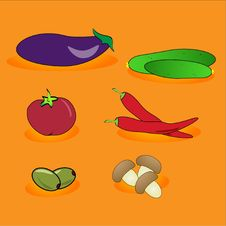 Illustration-abstract Vegetables Royalty Free Stock Photo