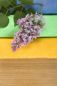 Free Coloured Towels Royalty Free Stock Photos - 14384268