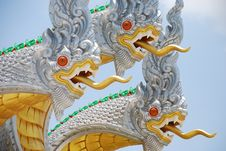 Free Three White  Nagas Stock Image - 14384341