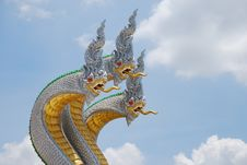 Free Three White Nagas Stock Photography - 14384442
