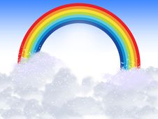 Free Rainbow With Clouds Stock Photos - 14384463
