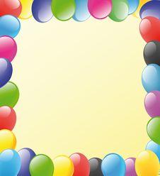 Balloons Frame Stock Image
