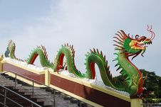 Free Green Chinese Dragon Stock Photo - 14384850