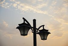 Free Street Lamps Royalty Free Stock Photo - 14384905