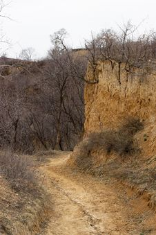 Shanxi Loess Plateau Road Royalty Free Stock Photography