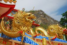 Free Chinese Dragon In Temple Royalty Free Stock Photos - 14385528