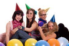 Happy Girls Having Fun Stock Photos