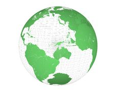 Free Wired Green Globe Stock Image - 14385731
