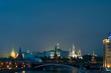 Free Night Kremlin Stock Photography - 14385732