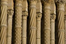 Row Of Historic Columns Royalty Free Stock Photos