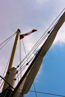 Sail Ship Mast Royalty Free Stock Photo