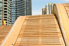Wave Deck At Harbour Front Toronto Stock Photography