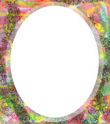 Free Oval Colorful Frame Royalty Free Stock Images - 14386399