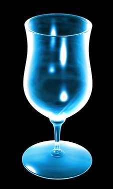 Free Blue Glass On The Black Background Stock Images - 14386684