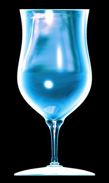 Free Blue Glass On The Black Background Stock Photography - 14386692