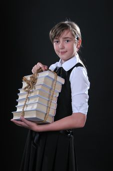 Free Girl And Books Royalty Free Stock Photos - 14386818