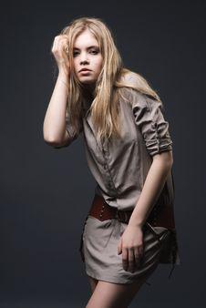 Free Fashion Portrait Of Seductive Blond Girl Stock Photo - 14386870