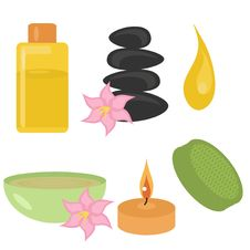 Free Set With Spa Objects Royalty Free Stock Images - 14387409