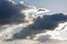 Clouds In The Sky A Background Royalty Free Stock Photos