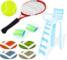 Free Tennis Set Stock Image - 14388581