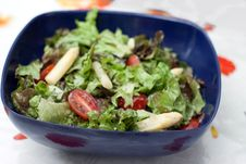 Free Summer Salad With Asparagus And Tomatoes Royalty Free Stock Image - 14388996